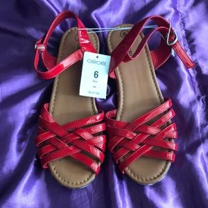 Cherokee Red, White and Blue Sandals